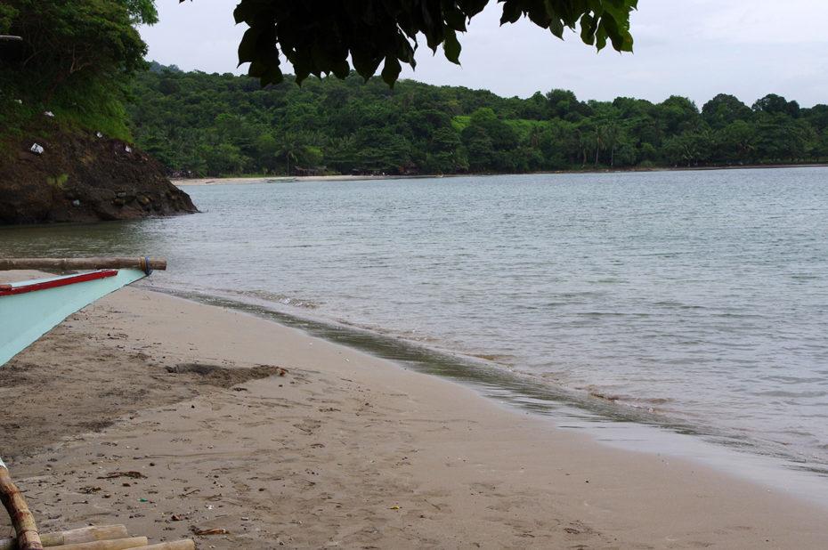 La plage de Bataan Beach, un endroit très calme