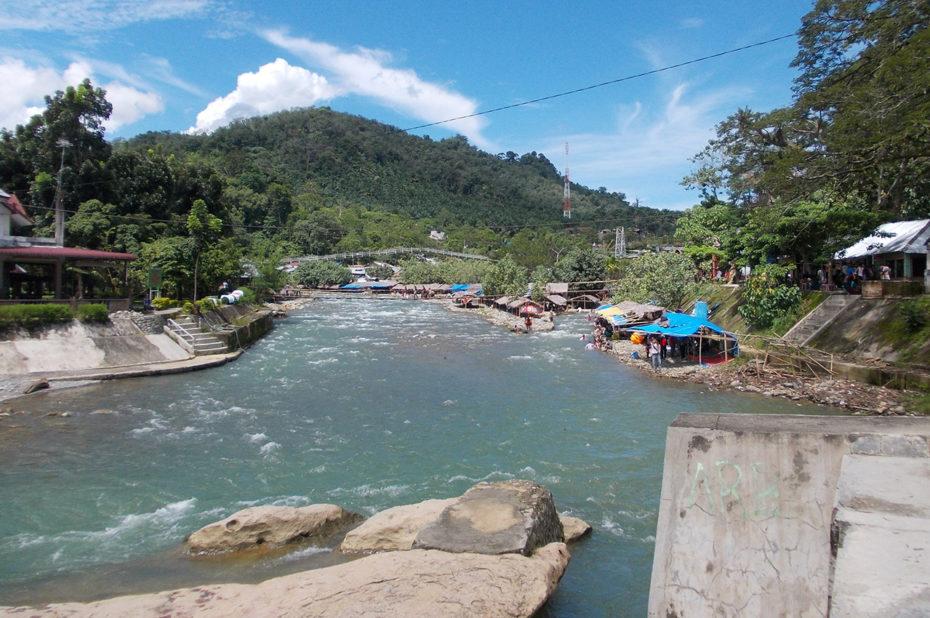La rivière Bohorok à Bukit Lawang