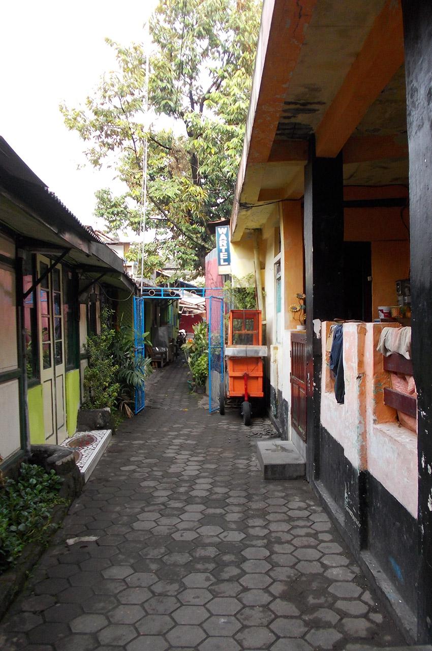 Une rue à Yogyakarta