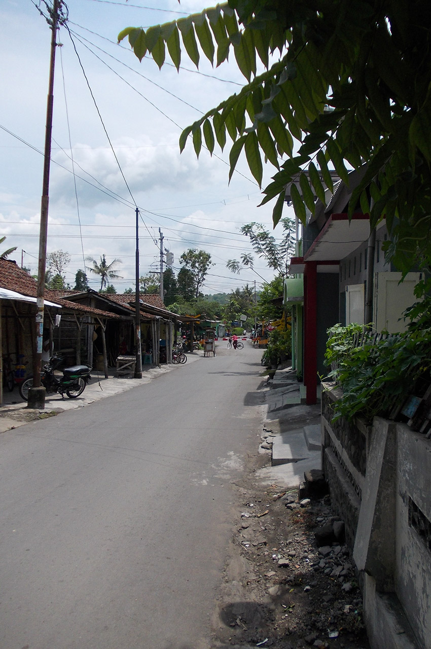 Rue dans un quartier populaire de Yogyakarta
