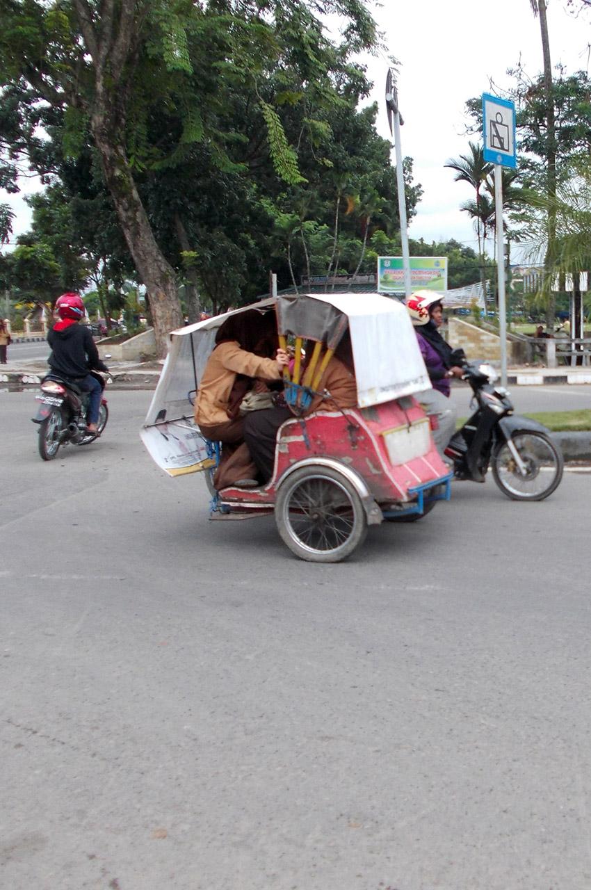 Side-car à Jakarta