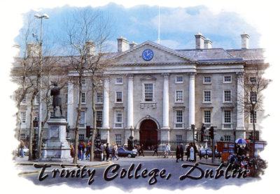 Le bâtiment principal de Trinity College