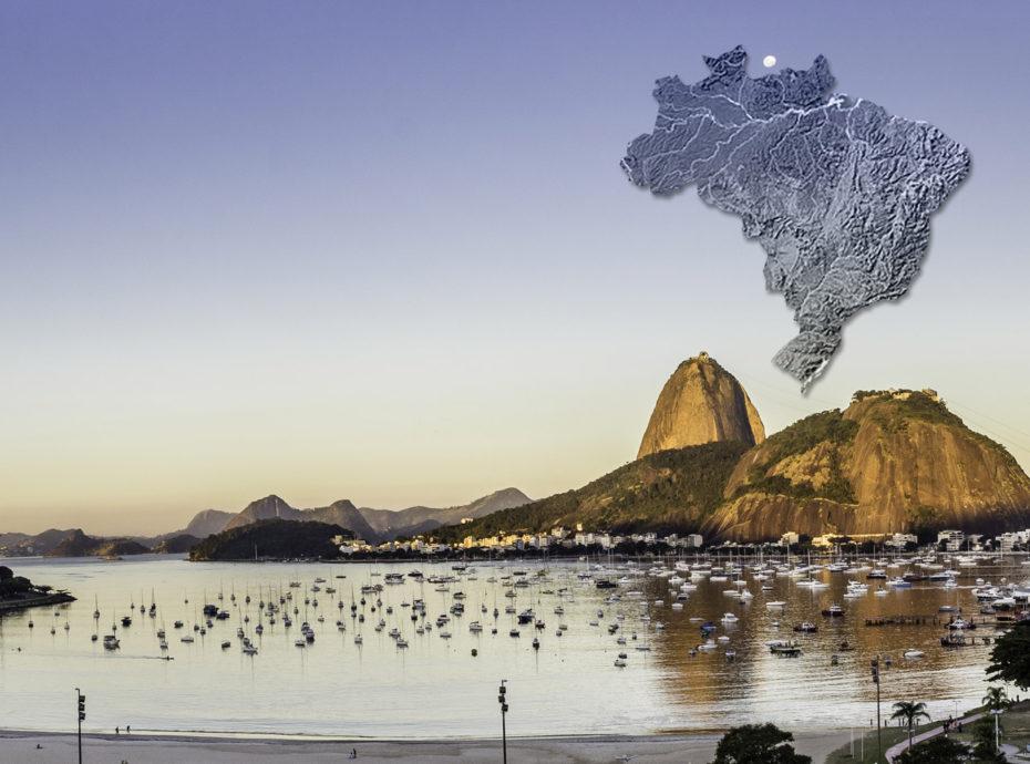 Carte illustrée du Brésil