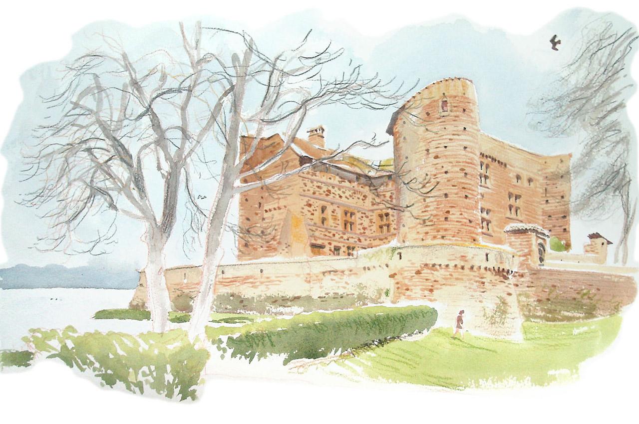 Dessin du château de Bouligneux