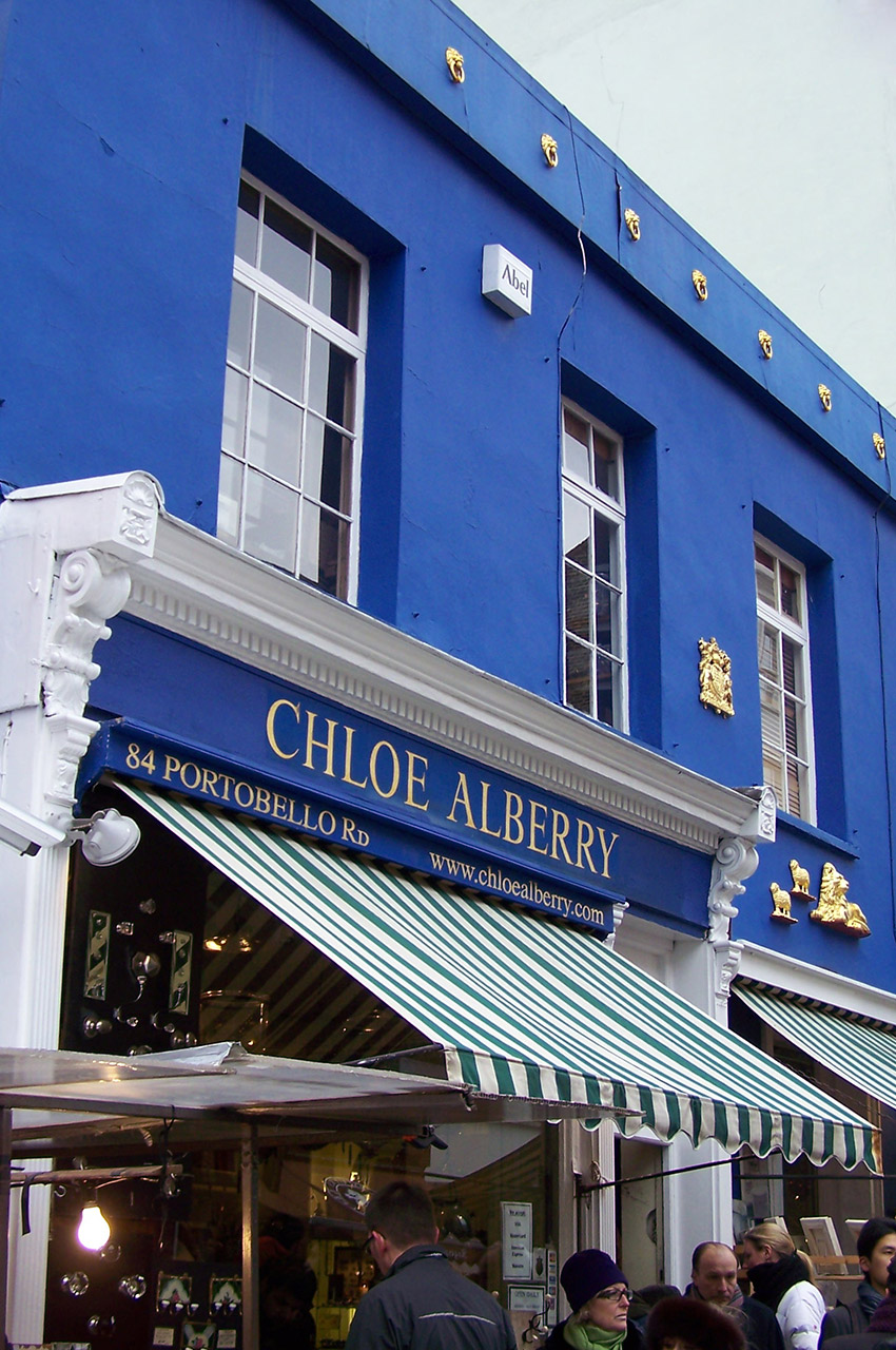 Magasin Chloe Alberry sur Portobello Road