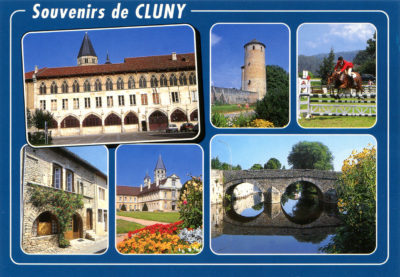 Cluny : Tour Ronde, haras national, pont