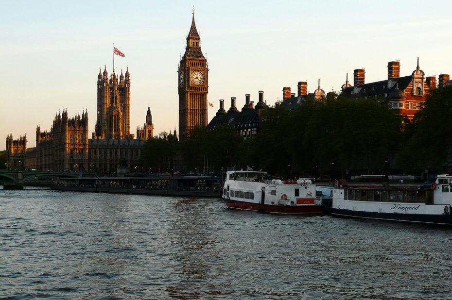 Coucher de soleil sur Westminster et Big Ben