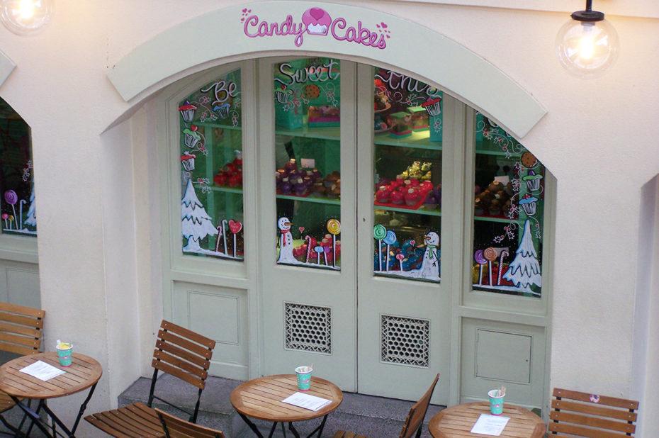Dégustation de confiseries en terrasse chez Candy Cakes