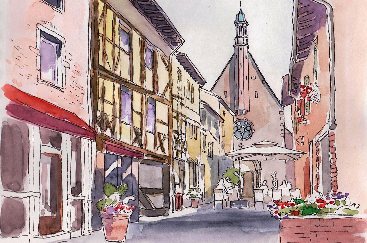 Châtillon-sur-Chalaronne par Michel Jacquard
