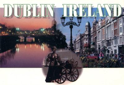 Vues de Dublin et Molly Malone au centre