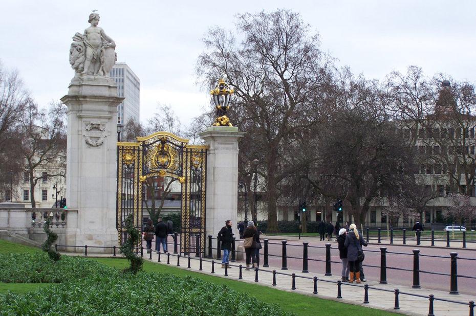 L'entrée de Buckingham Palace