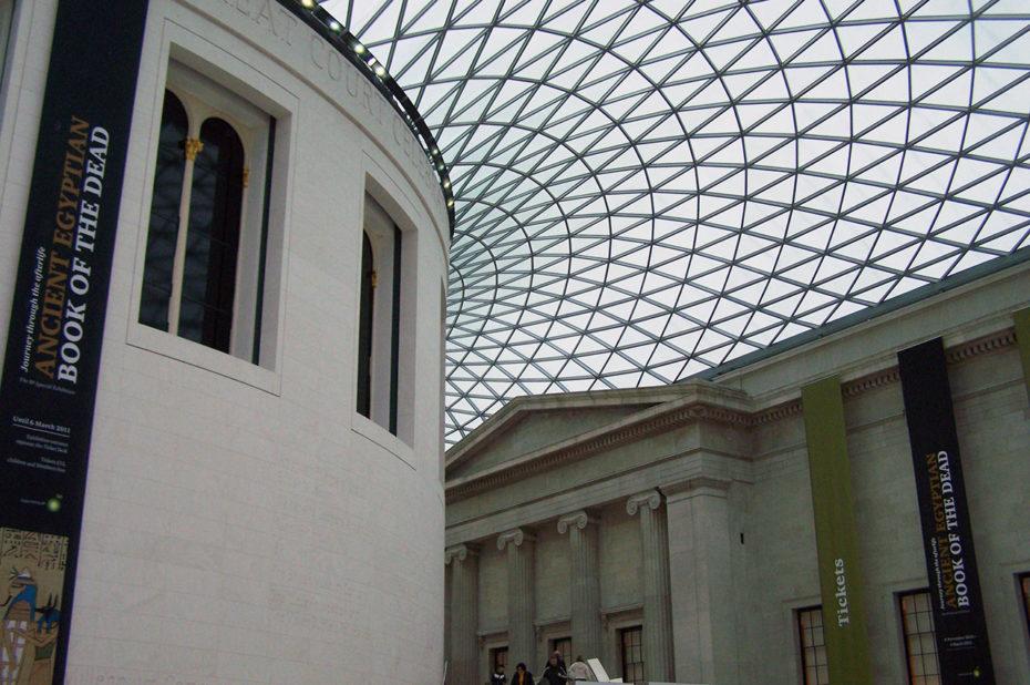 Hall d'entrée et verrière du British Museum