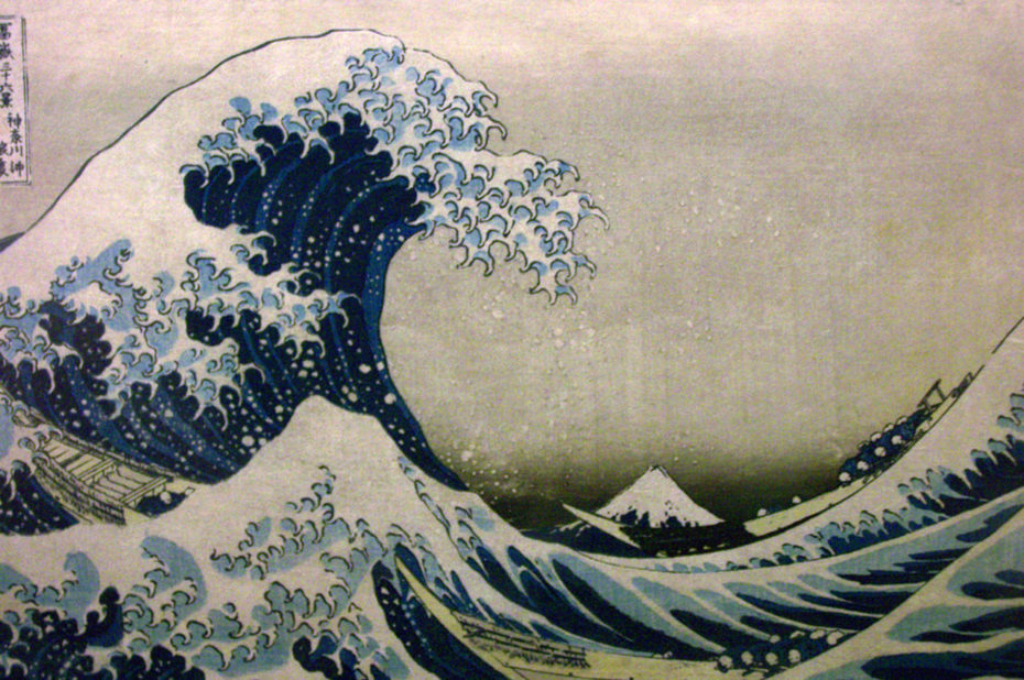 La Vague, estampe du peintre japonais Hokusai