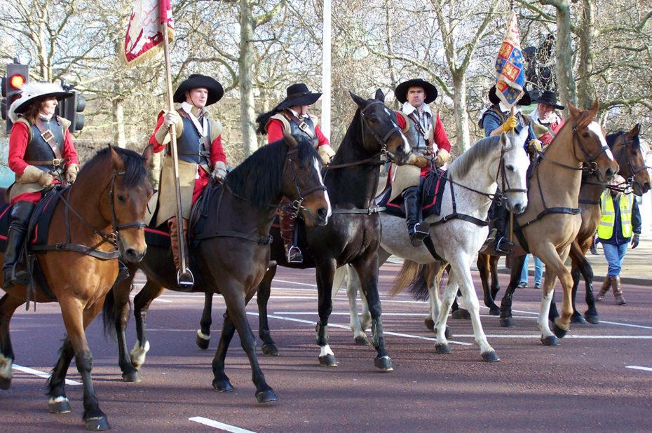 De magnifiques chevaux pour le défilé