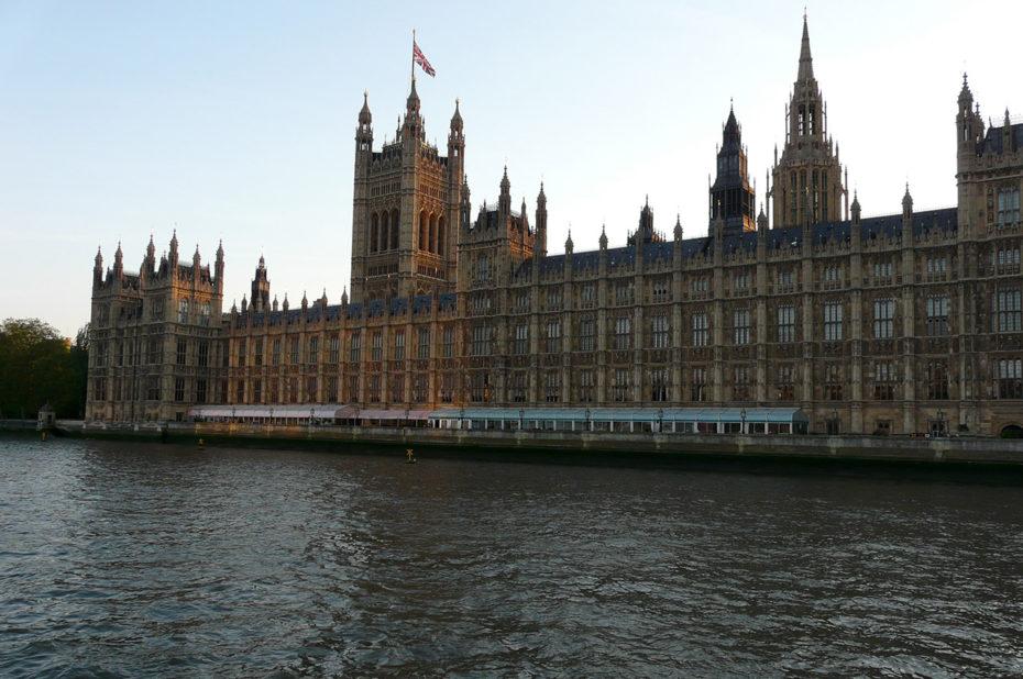 Le Palais de Westminster, aussi appelé Chambres du Parlement