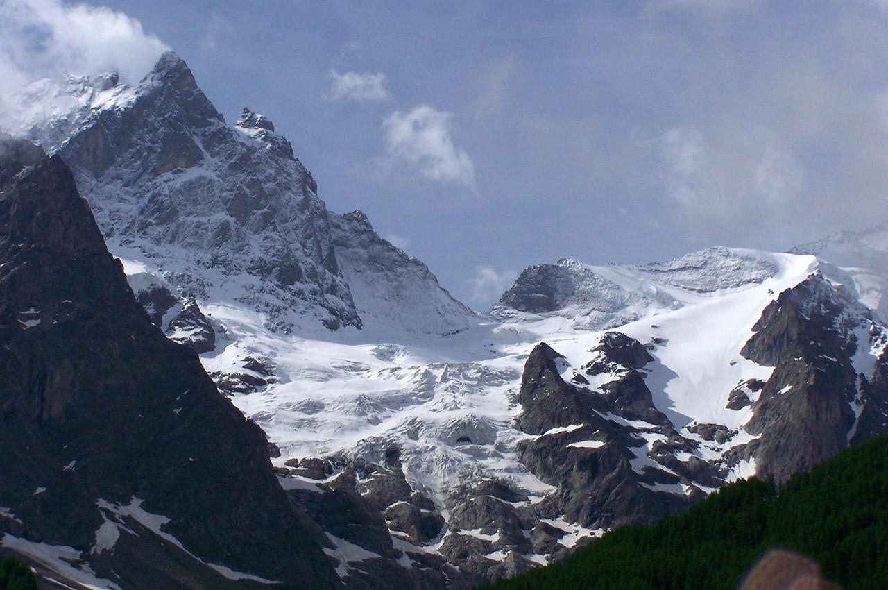 Le massif de la Meije vu depuis La Grave