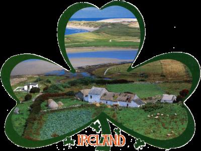 Paysage d'Irlande en forme de trèfle
