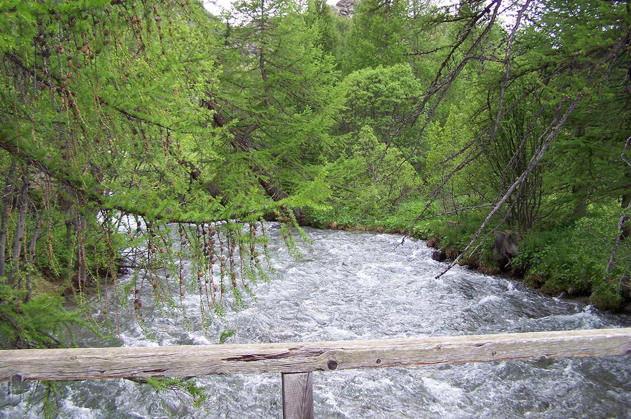 Un pont sur la rivière Clarée
