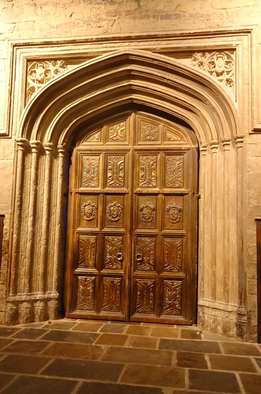 La porte donnant accès à la Grande Salle