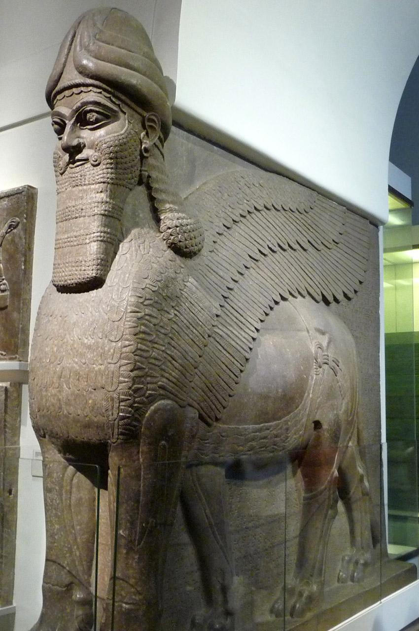 Gardien de l'Ancienne Assyrie à la porte du Palais de Nimrud