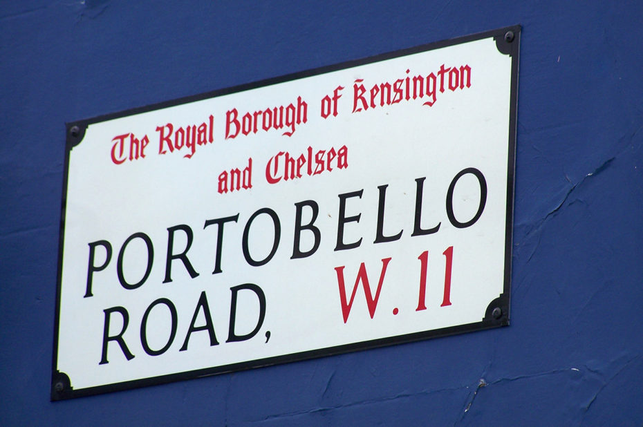 Portobello Road à Notting Hill