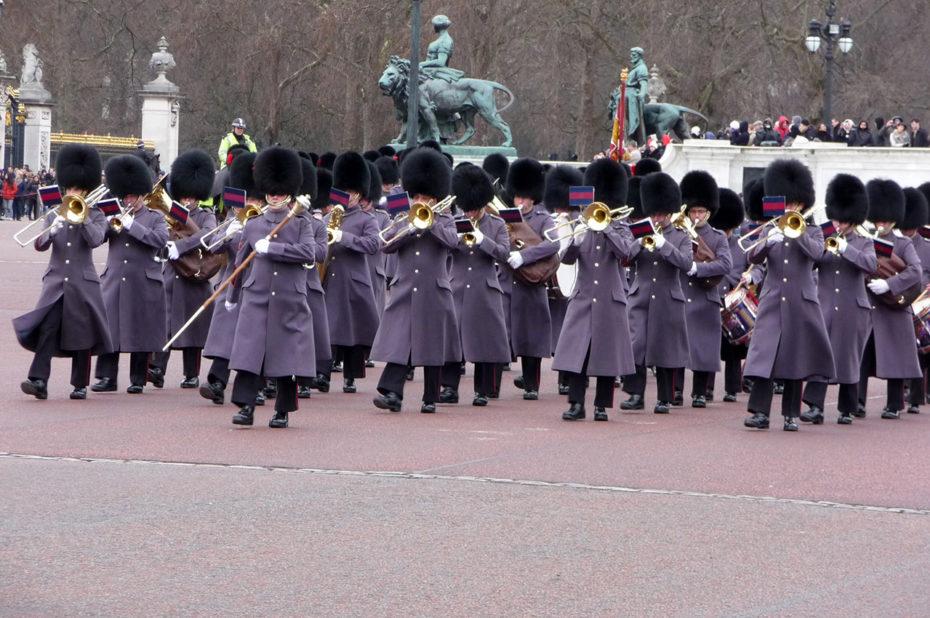 La relève de la garde à Buckingham Palace