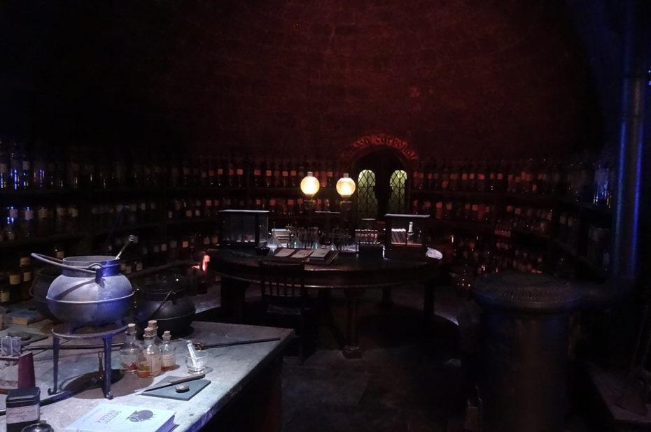 La salle des potions de Poudlard
