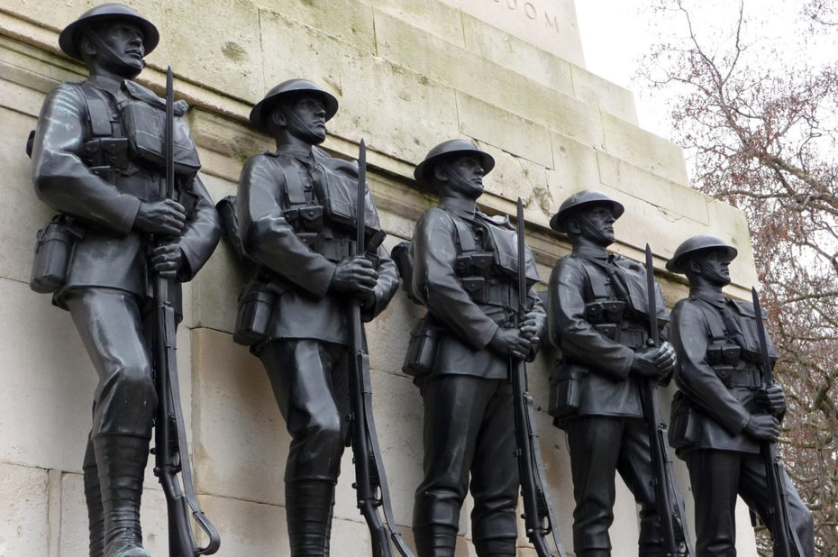 Les 5 soldats de bronze du Guards Memorial