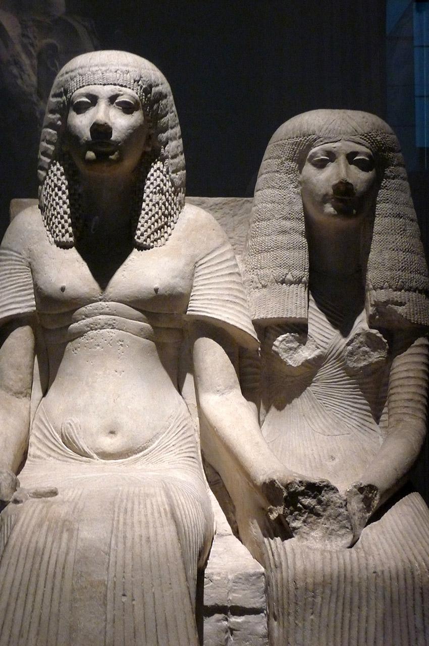 Statue de Horemheb et d'Amenia