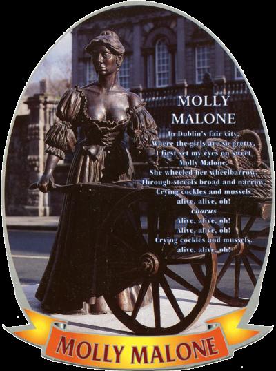 Statue de Molly Malone dans Grafton Street