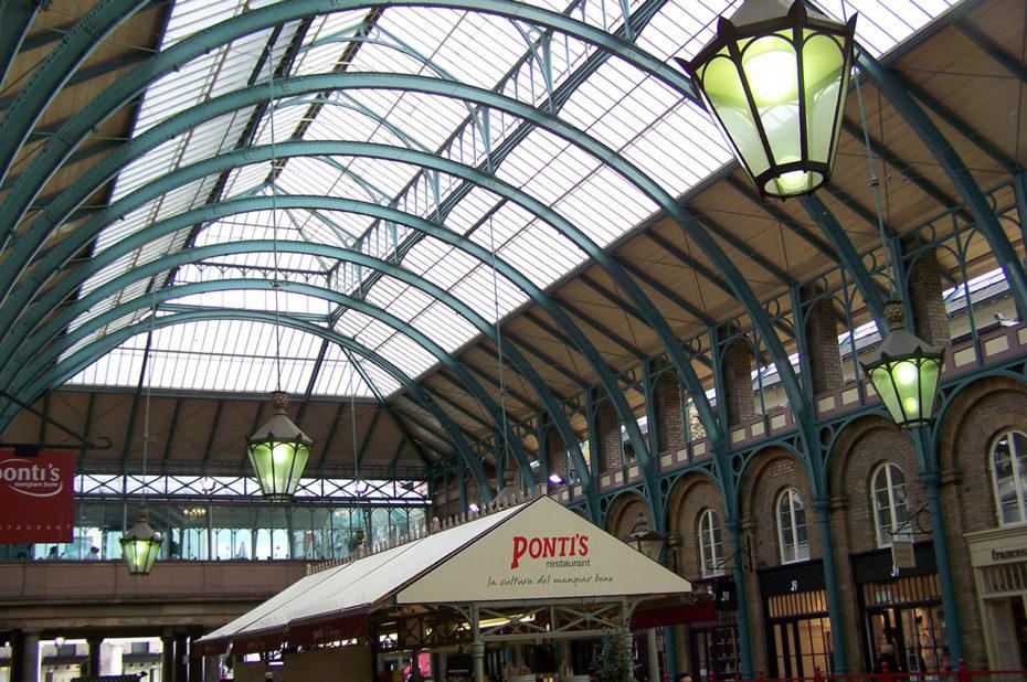 La verrière du marché de Covent Garden