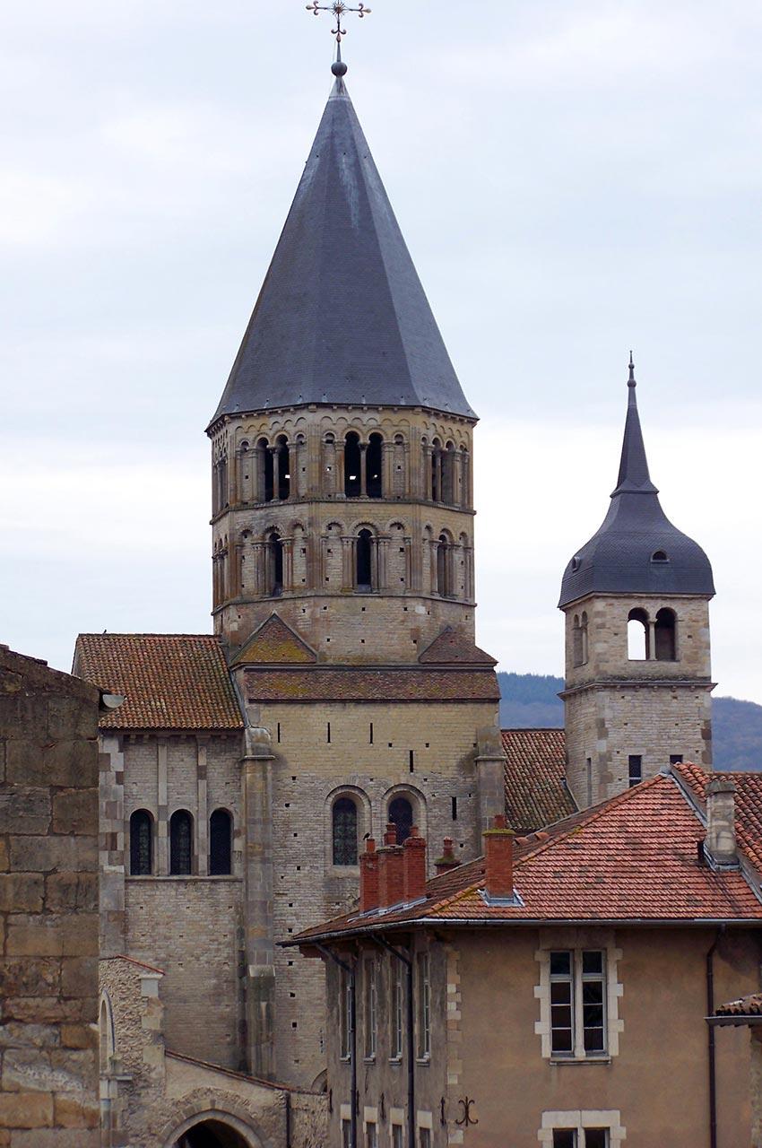 L'abbaye, au cœur de la ville de Cluny