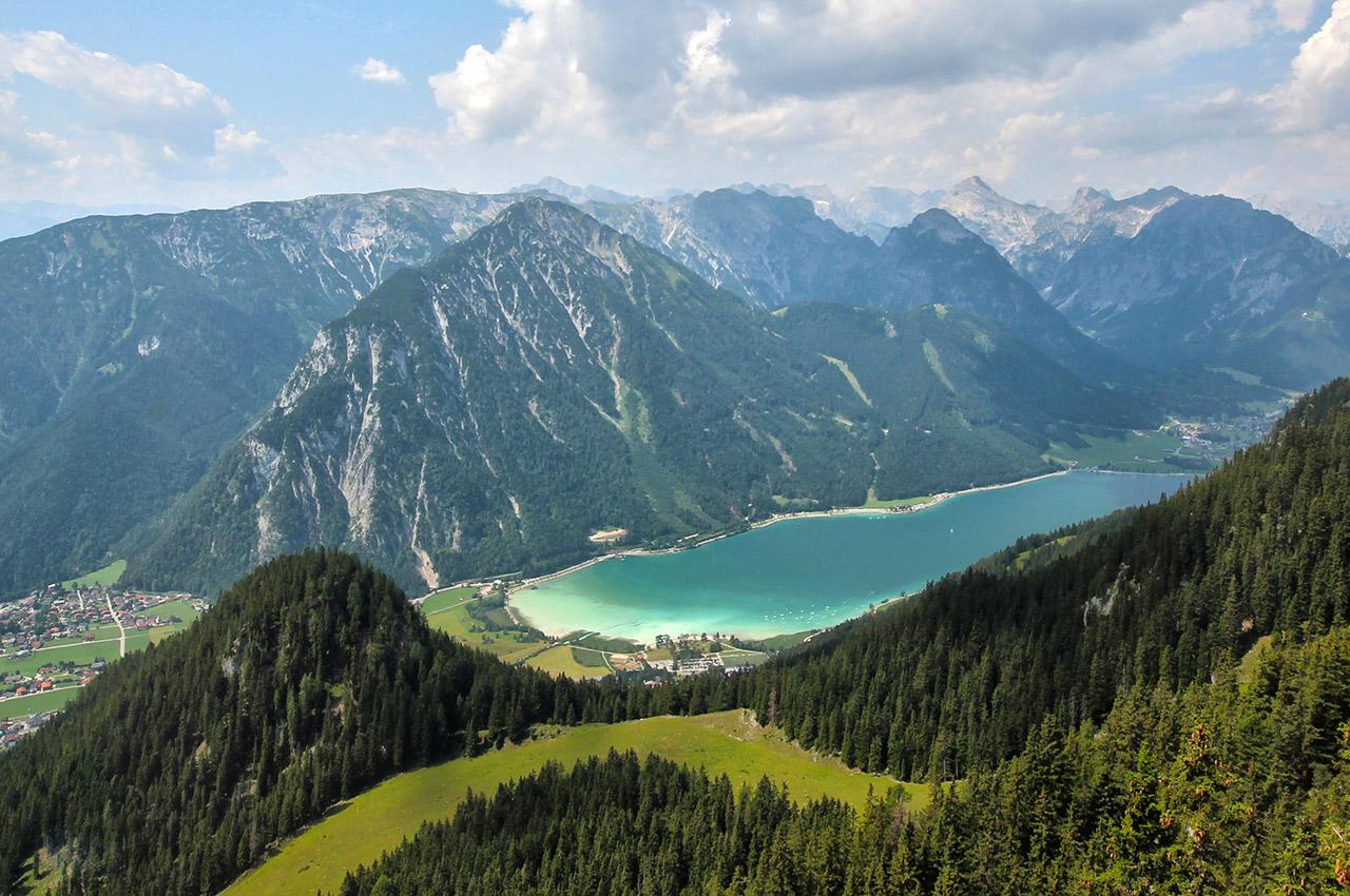 Le lac d'Achensee dans le Tyrol autrichien