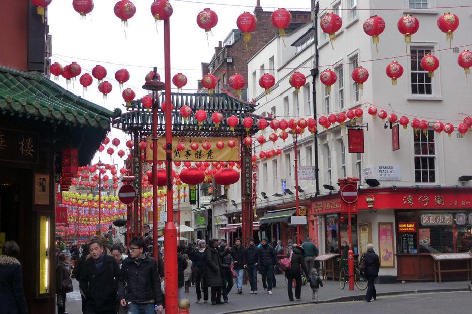 Balade dans le quartier chinois de Londres pendant le Nouvel An