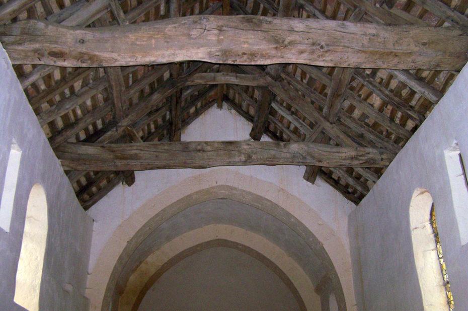 Charpente en bois de la chapelle