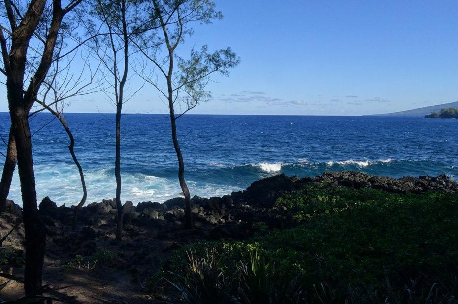 Chemin côtier au bord de l'océan Indien