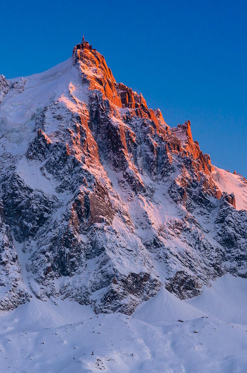 Coucher de soleil sur l'Aiguille du Midi