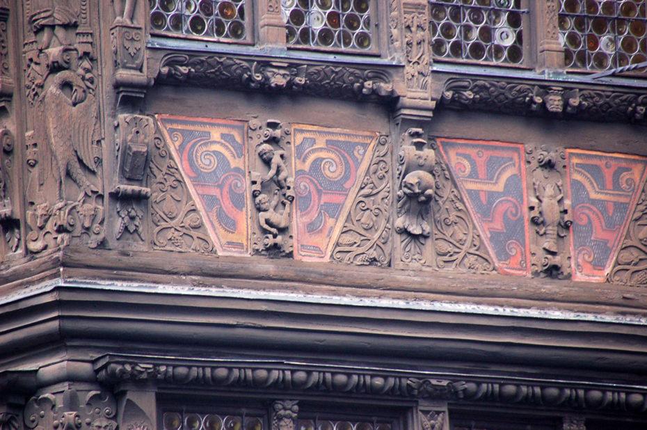 Détail de la façade de la Maison Kammerzell