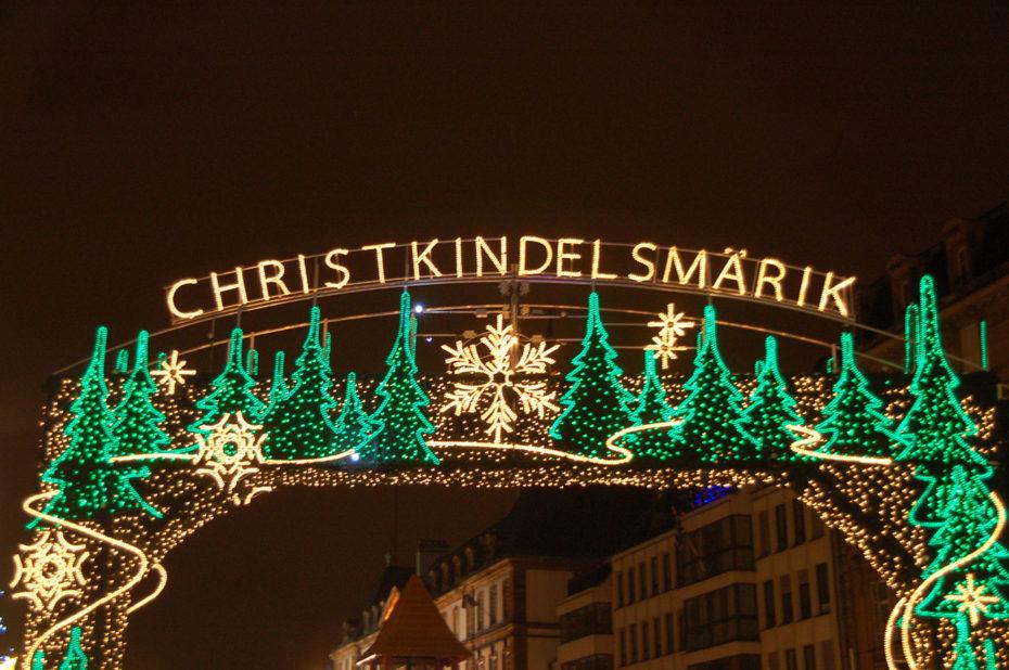 Entrée du Christkindelsmärik (marché de l'Enfant Jésus)