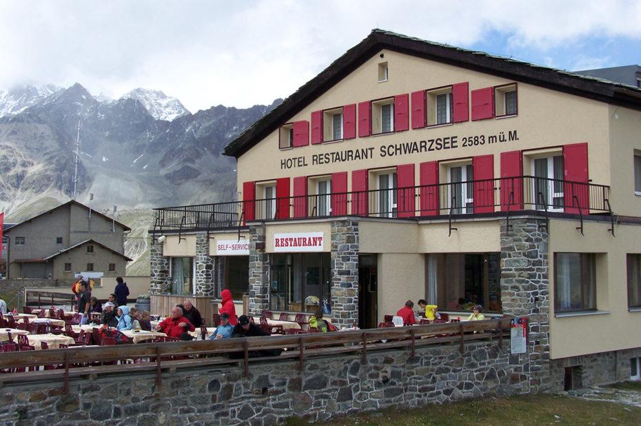 L'hôtel restaurant Schwarzsee à 2583 m