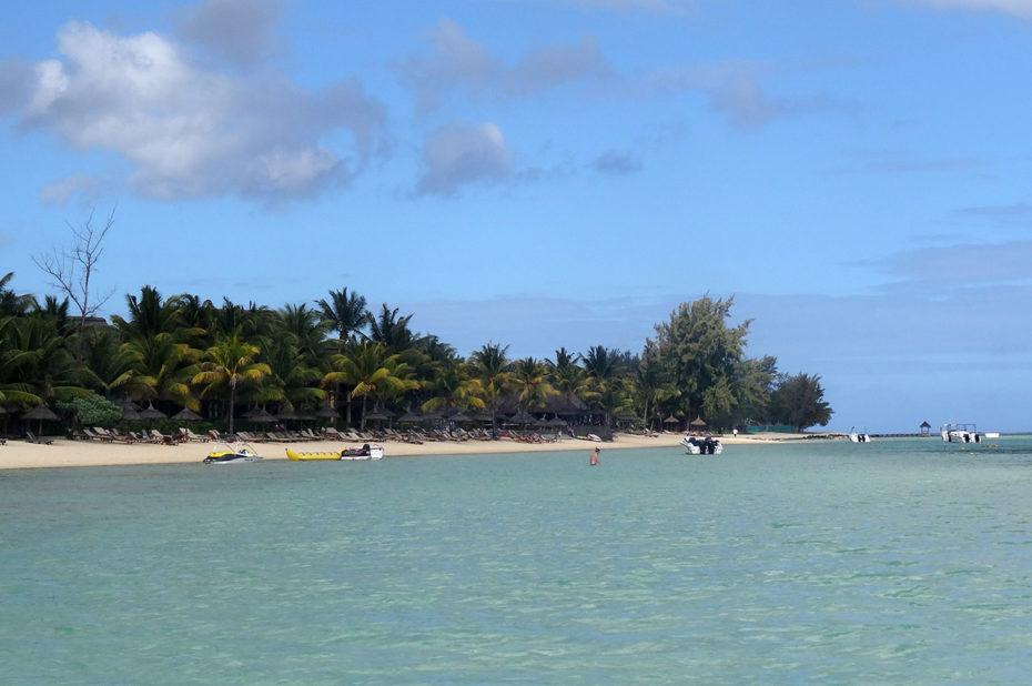 Le lagon de l'île aux Cerfs