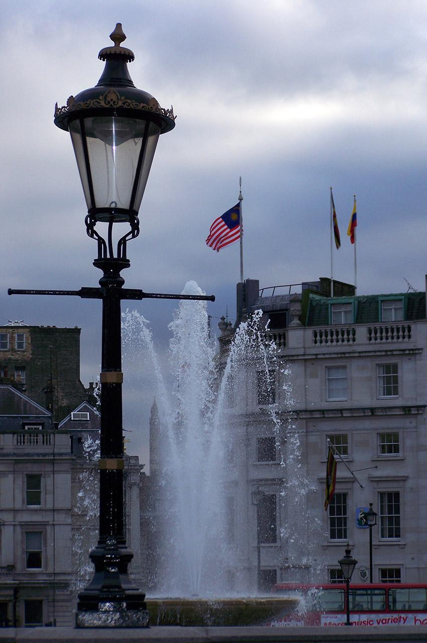 Lampadaire sur Trafalgar Square