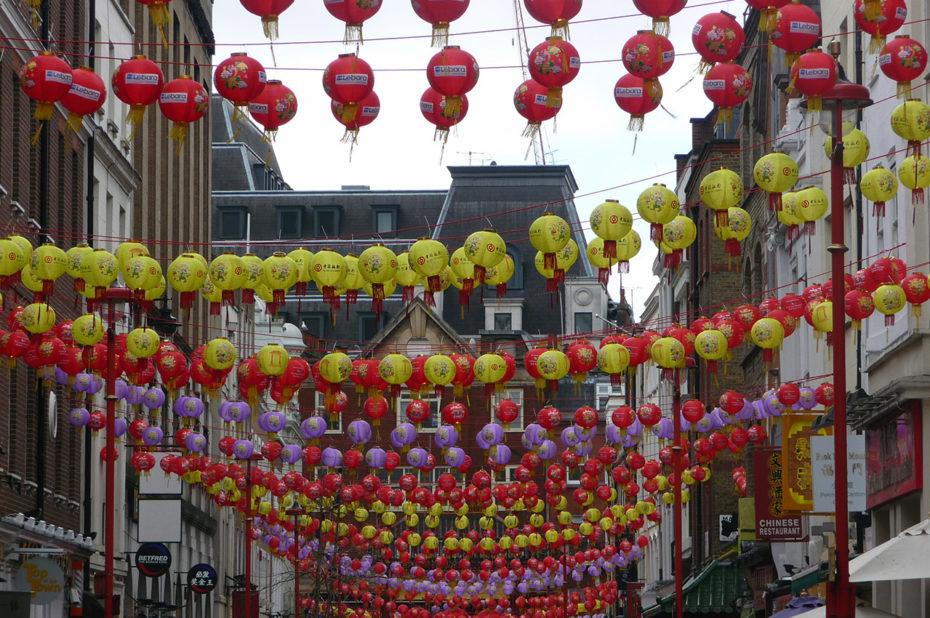 Lanternes multicolores pour fêter le Nouvel An chinois