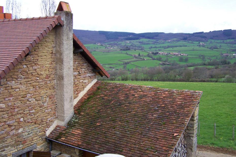 Maison avec vue sur la campagne en Bourgogne