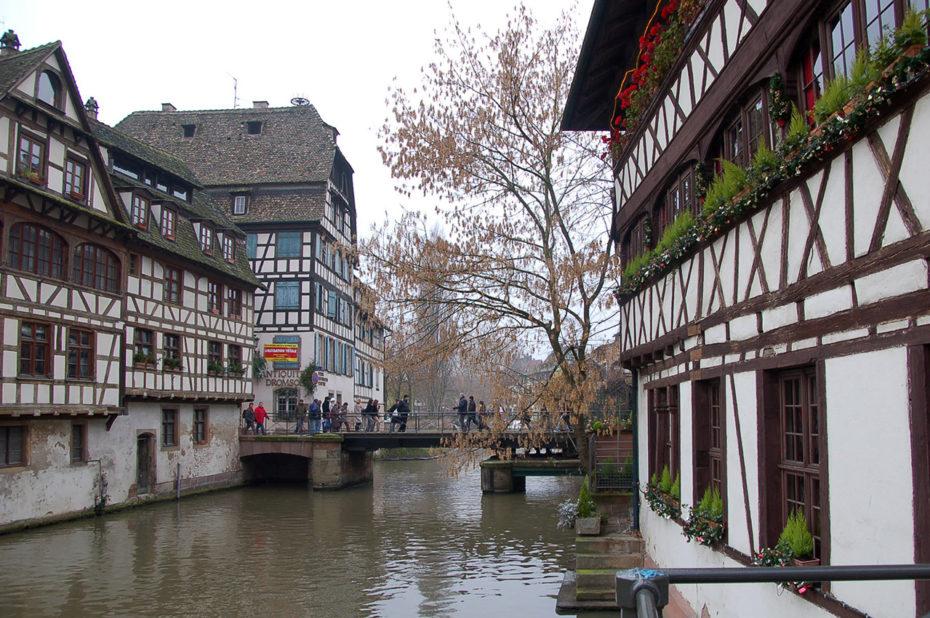 Maisons à colombages dans le quartier de la Petite France