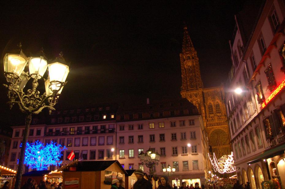 Marché de Noël sur la place Gutenberg