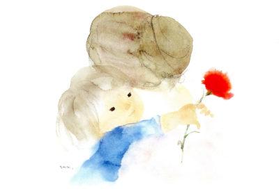 Mère et enfant, dessin Chihiro Iwasaki