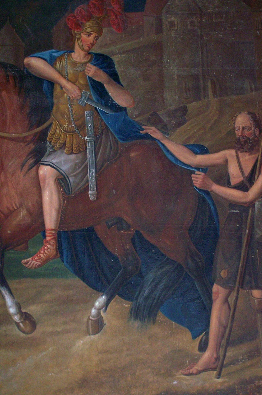 Peinture dans l'église de Jalogny