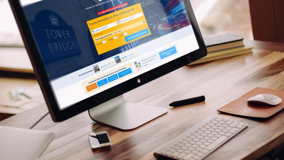 Réservation d'hôtels via Booking.com