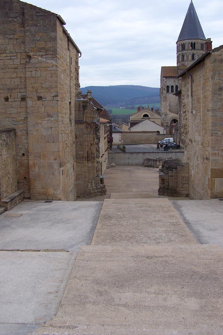 Les ruines de l'abbaye bénédictine